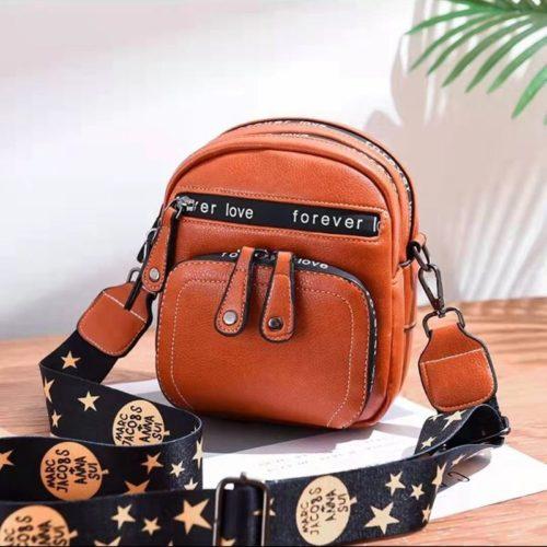 B1335-brown Tas Selempang Mini Fashion Wanita Cantik