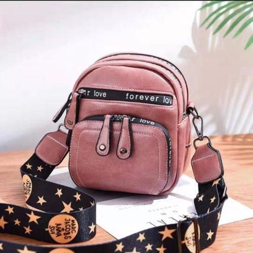B1335-pink Tas Selempang Mini Fashion Wanita Cantik