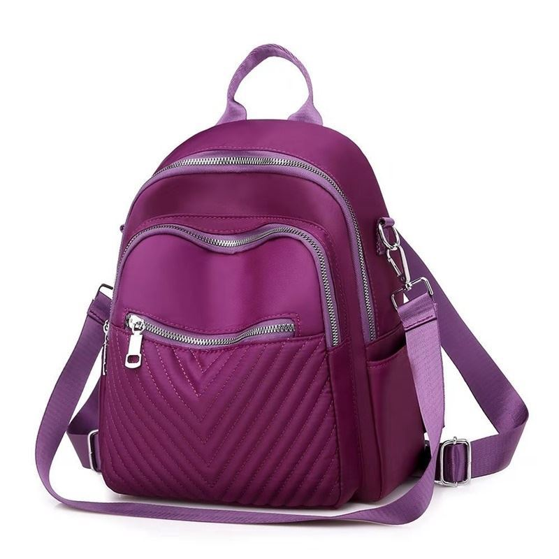 B134617 JKT IDR.165.000 MATERIAL NYLON SIZE L26XH31XW16CM WEIGHT 550GR COLOR PURPLE