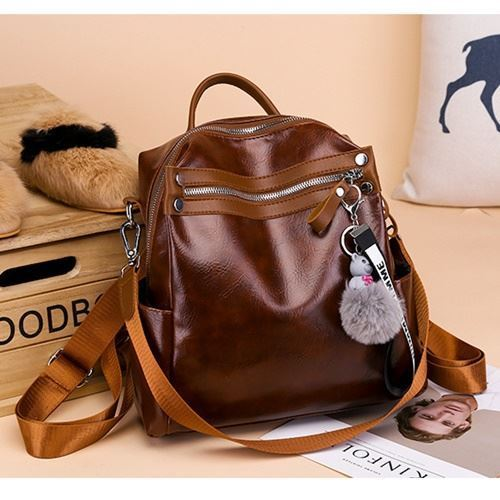 B134710 IDR.155.000 MATERIAL PU SIZE L24XH25XW10CM WEIGHT 550GR COLOR BROWN
