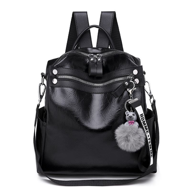 B134710 JKT IDR.155.000 MATERIAL PU SIZE L24XH25XW10CM WEIGHT 550GR COLOR BLACK