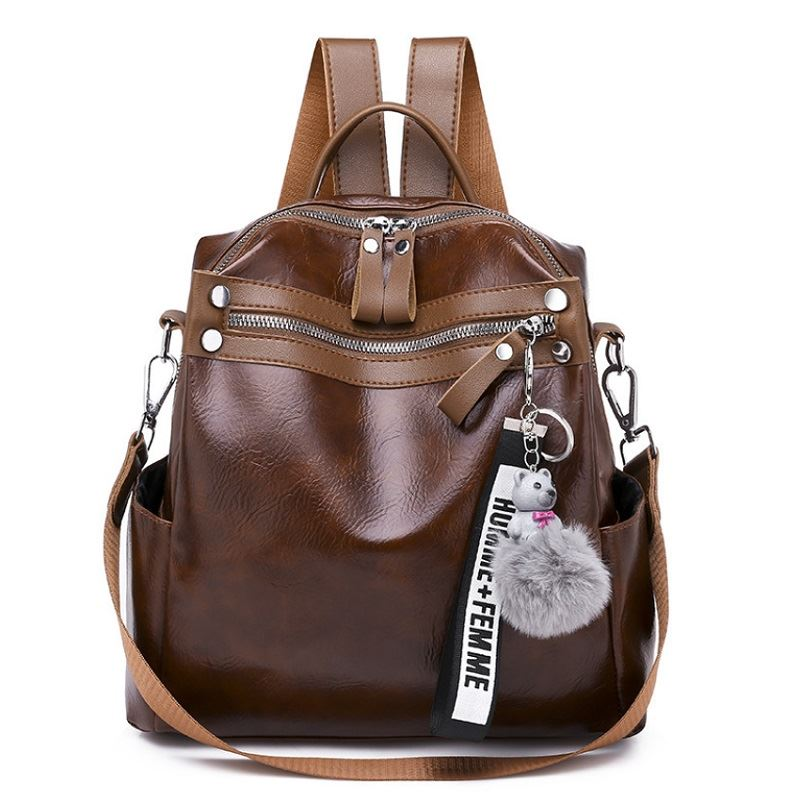 B134710 JKT IDR.155.000 MATERIAL PU SIZE L24XH25XW10CM WEIGHT 550GR COLOR BROWN