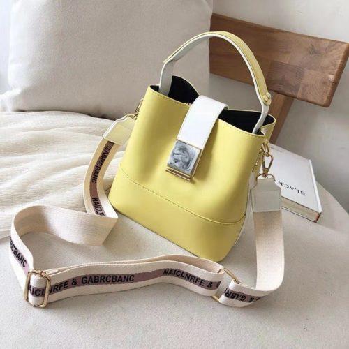 B15856-yellow Tas Selempang Fashion Wanita Cantik Import