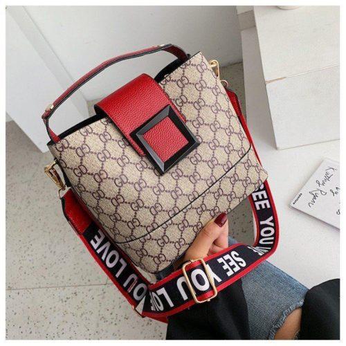 B17843-red Tas Selempang Wanita Elegan Fashion Terbaru