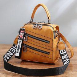 B1901-brown Tas Mini Ransel Homme + Femme (Bisa Selempang) Import