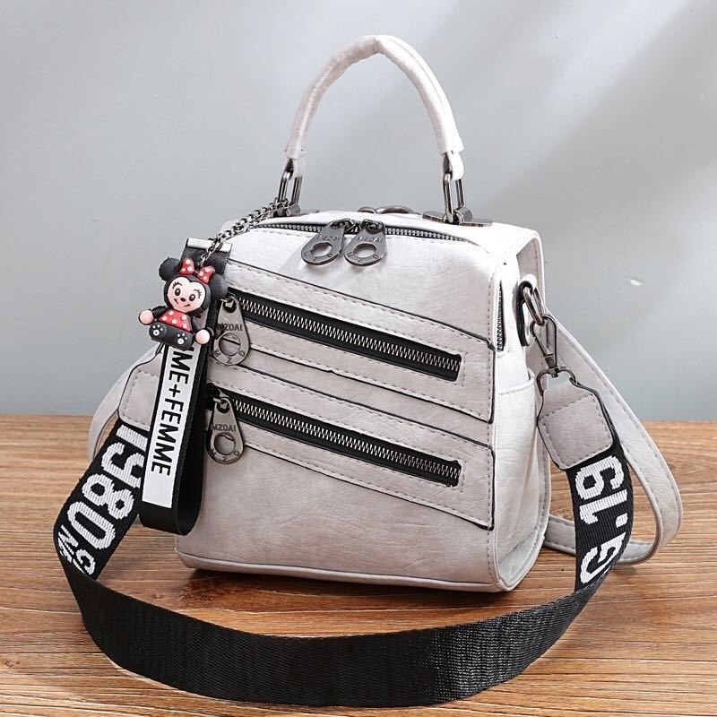B1901 JKT IDR.172.000 MATERIAL PU SIZE L19.5XH20XW12CM WEIGHT 750GR COLOR GRAY