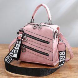 B1901-pink Tas Mini Ransel Homme + Femme (Bisa Selempang) Import
