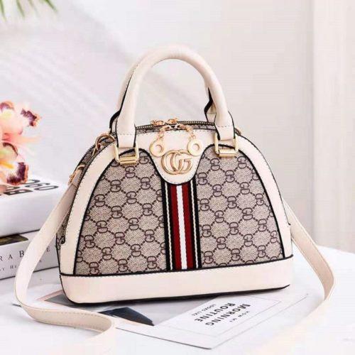 B19023-beige Tas Handbag Wanita Cantik Elegan Import