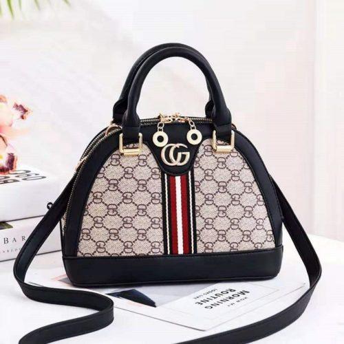 B19023-black Tas Handbag Wanita Cantik Elegan Import