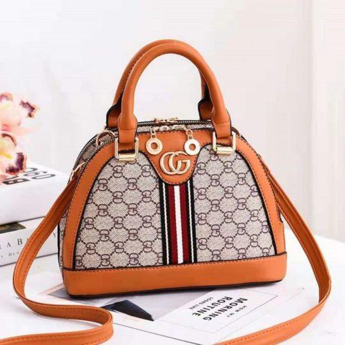 B19023-brown Tas Handbag Wanita Cantik Elegan Import