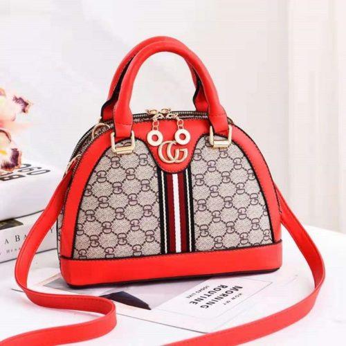 B19023-red Tas Handbag Wanita Cantik Elegan Import