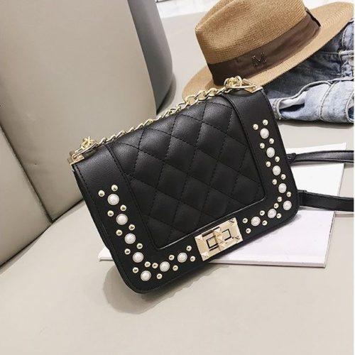 B1930-black Tas Selempang Pesta Elegan Import