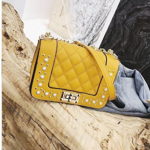 B1930-yellow Tas Selempang Pesta Elegan Import