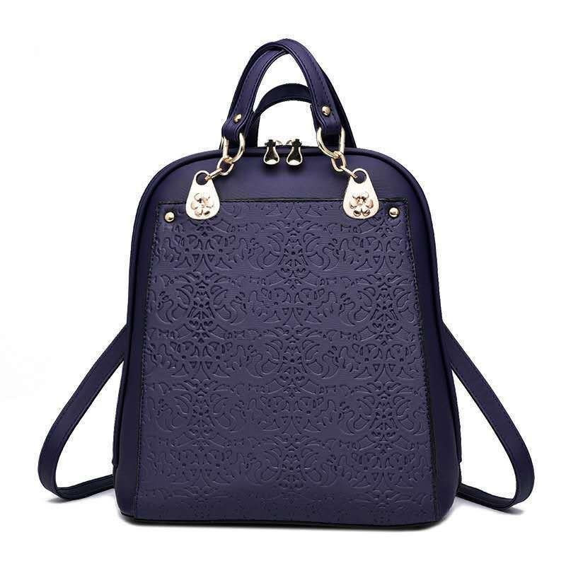 B2010 JKT IDR.185.000 MATERIAL PU SIZE L28XH31XW13CM WEIGHT 850GR COLOR BLUE