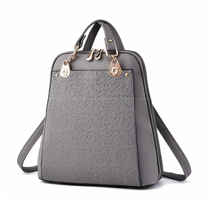 B2010 JKT IDR.185.000 MATERIAL PU SIZE L28XH31XW13CM WEIGHT 850GR COLOR GRAY