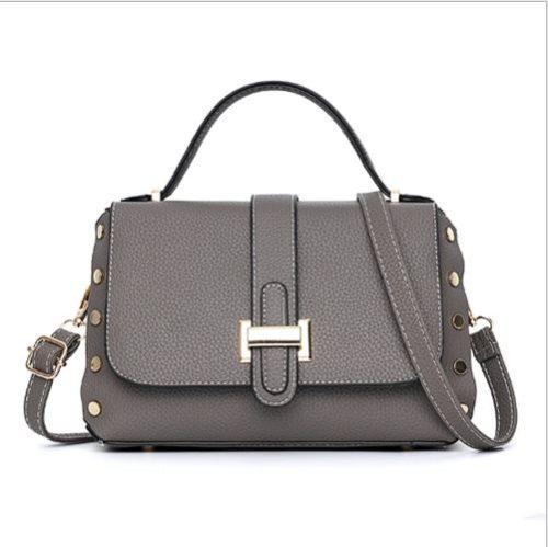 B22031-darkgray Tas Handbag Selempang Elegan Wanita Cantik Terbaru