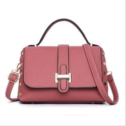 B22031-darkpink Tas Handbag Selempang Elegan Wanita Cantik Terbaru