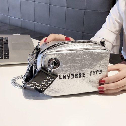 B230-silver Tas Selempang Fashion Modis Wanita Cantik
