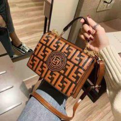 B25493-lightbrown Tas Handbag Wanita Elegan Tali Selempang