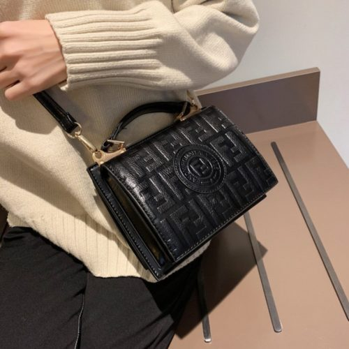 B25493-black Tas Handbag Wanita Elegan Tali Selempang