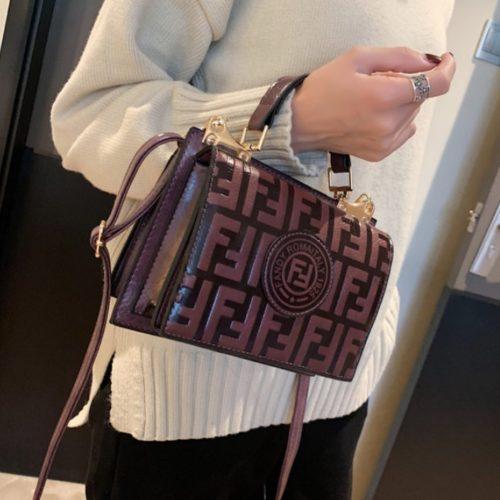 B25493-darkpurple Tas Handbag Wanita Elegan Tali Selempang