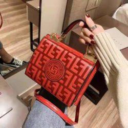B25493-red Tas Handbag Wanita Elegan Tali Selempang