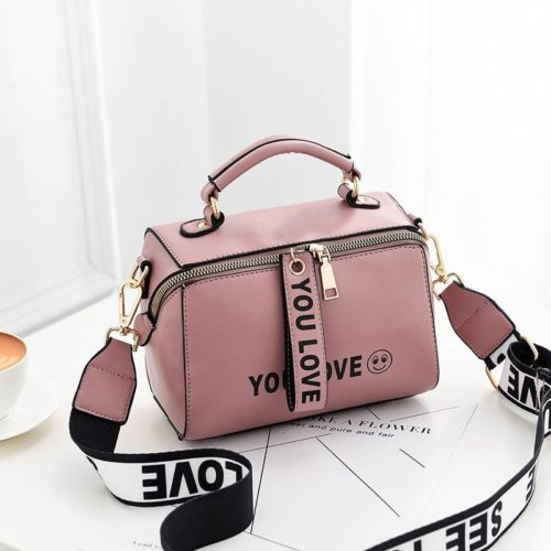 B2940-pink Tas Selempang Kekinian Fashion Wanita Cantik