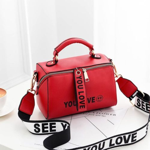 B2940-red Tas Selempang Kekinian Fashion Wanita Cantik