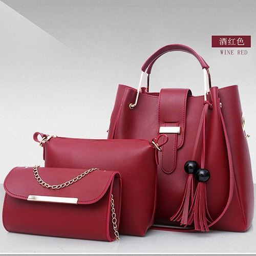 B3015 (3IN1) JKT IDR.180.000 MATERIAL PU SIZE L33XH30XW14CM-L21XH17XW7CM-L21XH12XW5CM WEIGHT 1100GR (3IN1) COLOR RED
