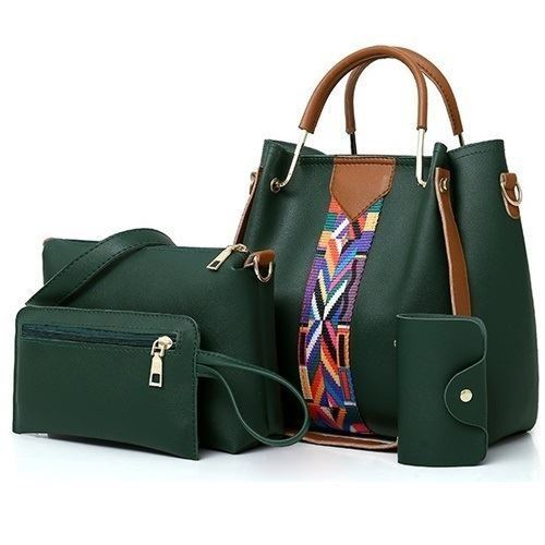 B3108 JKT IDR.152.000 MATERIAL PU SIZE L25XH25XW13 L23XH15 L20XH12CM WEIGHT 850GR 4IN1 COLOR GREEN