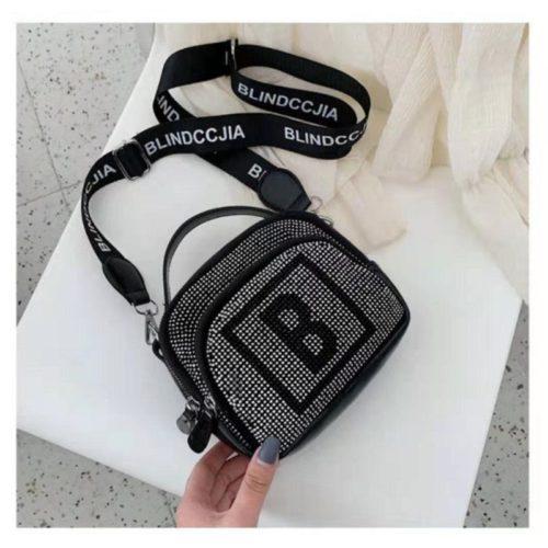 B313417-black Tas Selempang Modis Cantik Terbaru