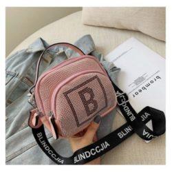 B313417-pink Tas Selempang Modis Cantik Terbaru