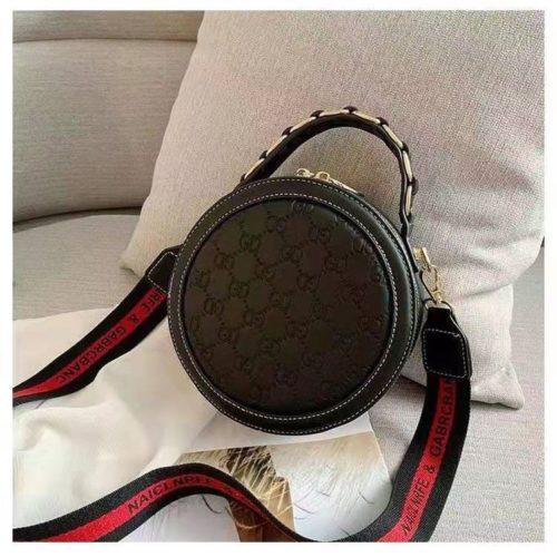 B313474-black Circle Bag Selempang Terbaru (2 Talpan)