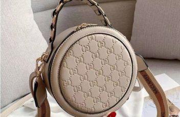 B313474-khaki Circle Bag Selempang Terbaru (2 Talpan)