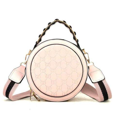 B313474-pink Circle Bag Selempang Terbaru (2 Talpan)
