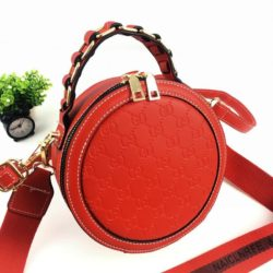 B313474-red Circle Bag Selempang Terbaru (2 Talpan)