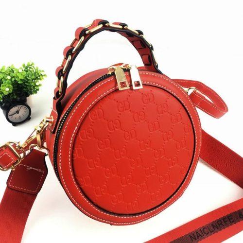 B313474-red Circle Bag Selempang Terbaru (2 Talpan)