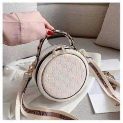 B313474-white Circle Bag Selempang Terbaru (2 Talpan)