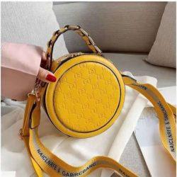 B313474-yellow Circle Bag Selempang Terbaru (2 Talpan)