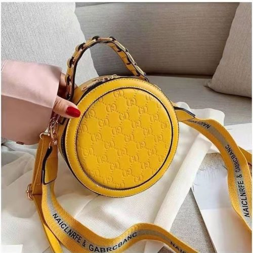 B313474-yellow Circle Bag Selempang Terbaru (2 Talpan)