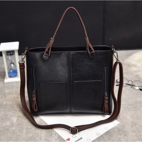 B335-black Tas Selempang Vintage Cantik Import Kekinian