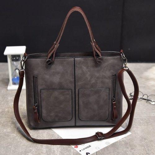 B335-gray Tas Selempang Vintage Cantik Import Kekinian
