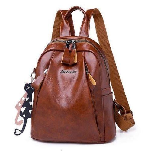 B34220-brown Tas Ransel Wanita Cantik Modis Import