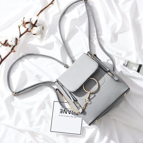 B369-gray Tas Ransel Fashion Import Wanita