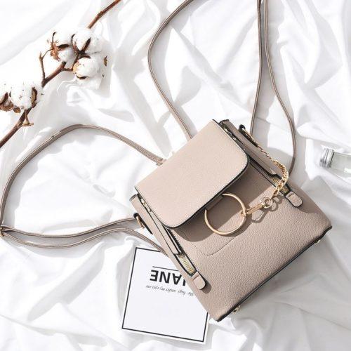 B369-khaki Tas Ransel Fashion Import Wanita