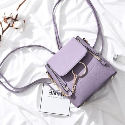 B369-purple Tas Ransel Fashion Import Wanita