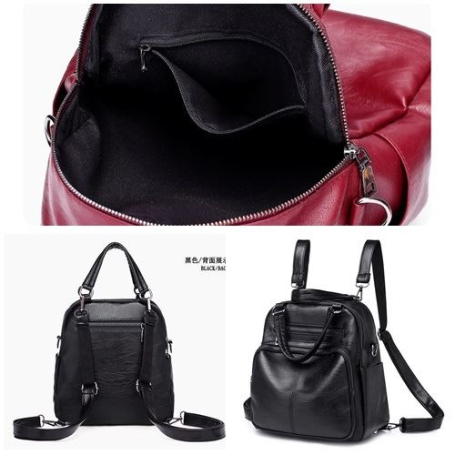 B4116 JKT IDR.157.000 MATERIAL PU SIZE L26XH26XW14CM WEIGHT 500GR COLOR BLACK