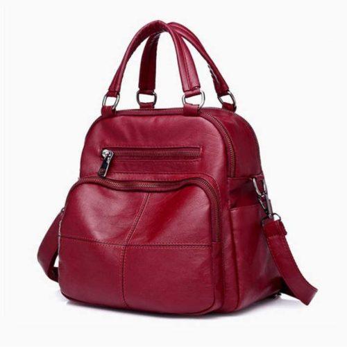 B4116-red Tas Ransel Fashion Stylish Tali Selempang