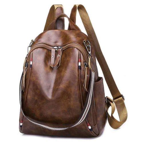 B4526-brown Tas Ransel Fashion Import Terbaru Wanita
