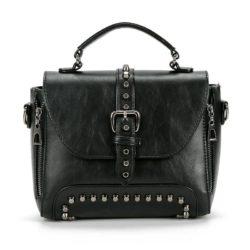 B522-black Tas Handbag Kulit Elegan Import Terbaru